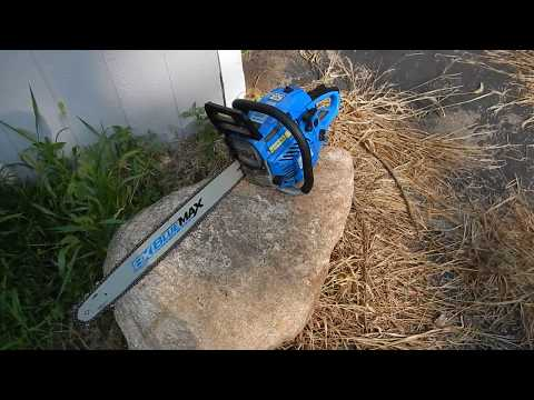 Blue Max 22 inch chainsaw review after cutting 44 trees