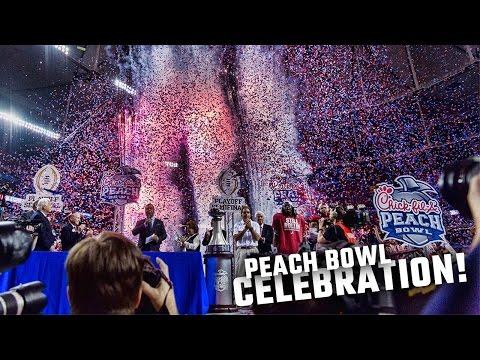 Alabama's Peach Bowl celebration