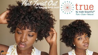 Flat Twist Out | Bantu Knot Ft TRUE By Made Beautiful