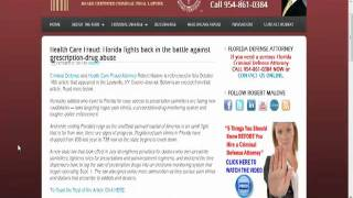 Accused of Health Care Fraud in Florida? Call Robert Malove PA
