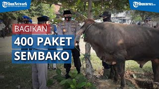 Direktorat Polairud Polda Jawa Barat Bagikan 400 Paket Daging Kurban