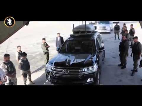 بالفيديو.. «حفتر» يزور تونس مصطحباً فرقة مدرّعة