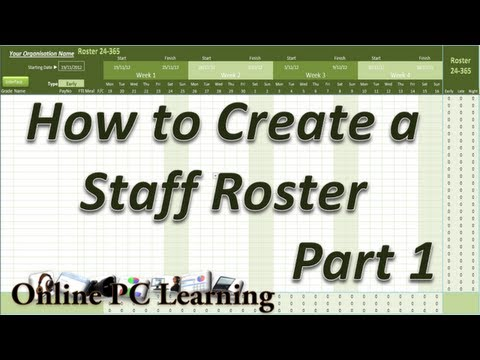 Excel VBA Roster Create a Staff Roster Roster Flow Plus – Staff Roster Template