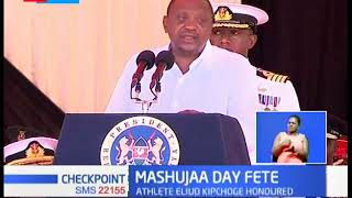 MASHUJAA DAY FETE: Handshake dominates political talk