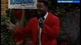 Carlton singing Fresh Prince of Bel Air