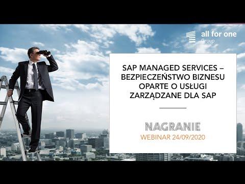 SAP Managed Services – bezpieczeństwo biznesu oparte o usługi zarządzane dla SAP