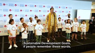Piko Taro (Japanese YouTube star) makes first UN appearance and promotes Global Goals