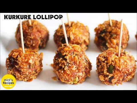 Veg Kurkure Lollipops Recipe in Hindi - Easy Indian Snacks Recipes - Evening Snacks Recipes Ep-173