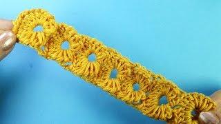 Декоративная ленточка Вязание крючком Crochet border  376