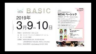 WDAI ベーシックコース参加者募集!2019.3.9-10.(土日)開催