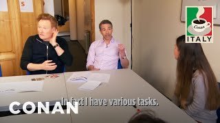 Conan & Jordans Italian Language Lesson  - CONAN On TBS