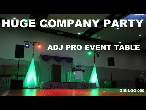 Large Christmas Company Party | Gig Log 060 | ADJ Pro Event Table