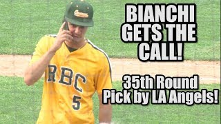 Vin Bianchi Gets the Call! | RBC Pitcher/SS Gets Drafted by Angels After Final HS Game
