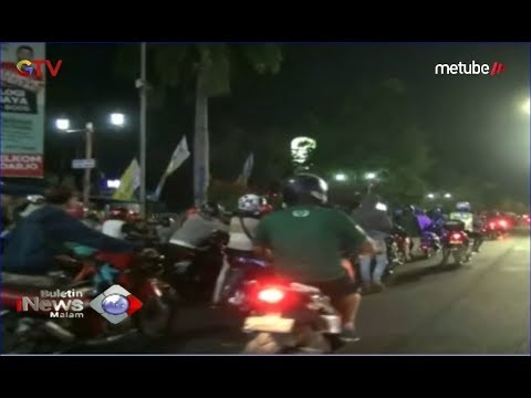 Ratusan Pengendara Kocar-kacir saat Polres Sidoarjo Gelar Razia Balap Liar - BIM 15/07