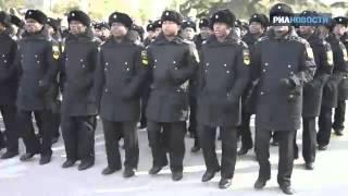 Курсанты ЧBBМУ им Нахимова спели песню «Легендарный Севастополь»
