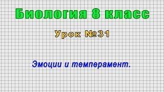 Биология 8 класс Урок 31