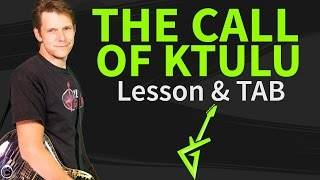 How To Play The Call Of Ktulu On Guitar Lesson & TAB #1 Metallica Tutorial