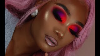 Lavender Hair + Smoky Neon Makeup Look | Celie Hair | MakeupTiffanyJ