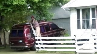 Man mopping his van / No Water Or Soap Dry Ass MOP/ IM DEAD LMAO/WOW/OMG VIRAL