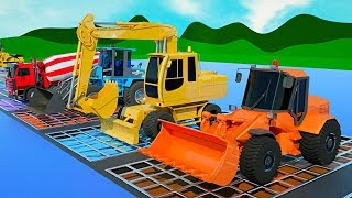 Learn Colors with the Construction Truck for Kids with the #Excavator, Dump Truck and Bulldozer