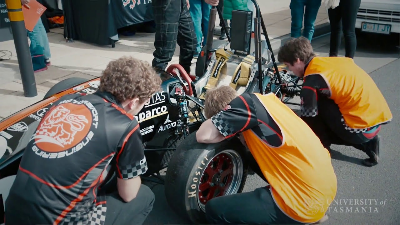 Play video: Our Engineering students build their own race car