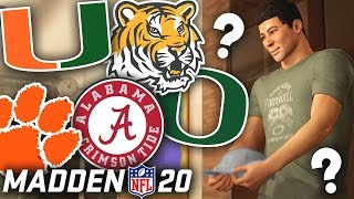 WHICH COLLEGE TEAM DO WE COMMIT TO!? NCAA PLAYOFFS! Madden 20 Face Of Franchise