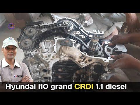 Hyundai i10 grand engine timing, crdi 1.1 diesel