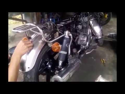 Video proses pembuatan awal modifikasi cb mesin mega pro