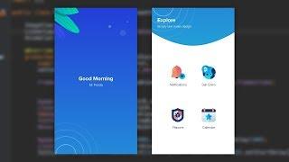 Splash Home Mobile UI Design Animation Adobe Xd to Android Studio Tutorial