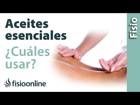 Utilización de aceites esenciales para el masaje y sus efectos y usos