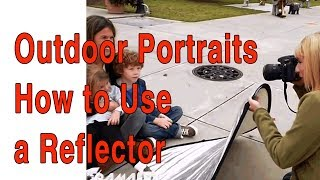 How To Use A Reflector For Outdoor Family Portraits With Natural Light