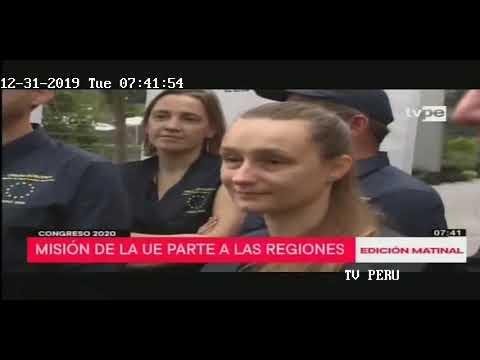 Edición Matinal de TV Perú. Congreso 2020: observadores de la UE partieron a regiones