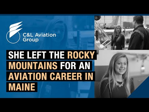 She left the Rocky Mountains for an aviation career in Maine. Find out why.