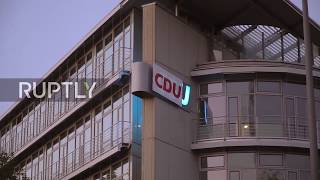Germany: Activists deface CSU headquarters sign in Bavaria