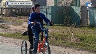 Новый специализированный «Велодоктор» поможет Эмильхану Тумаеву из Мошенского района