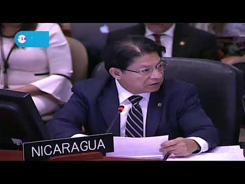 Gobierno de Nicaragua rechaza informe de la CIDH ante el Consejo Permanente de la OEA