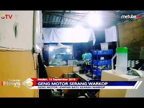 CCTV Rekam Aksi Geng Motor Serang Warung Kopi di Medan - BIP 16/09