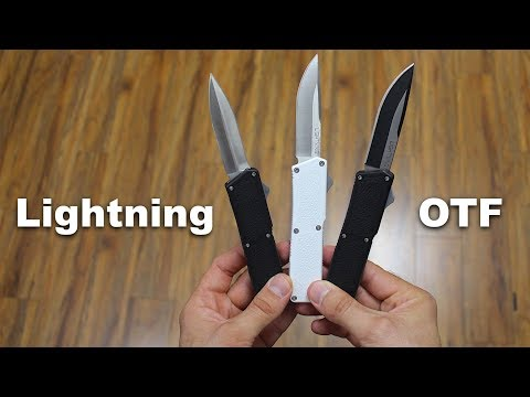 Lightning OTF Knife (Automatic) for $30