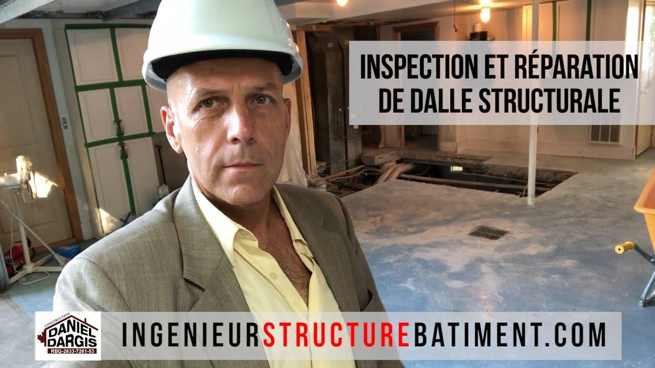 Inspection et réparation de dalle de béton structurale - Daniel Dargis ingénieur