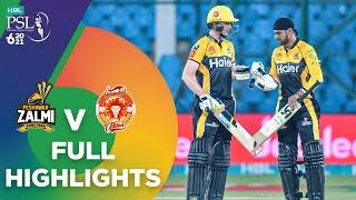 Full Highlights | Peshawar Zalmi vs Islamabad United | Match 10 | HBL PSL 6 | MG2T