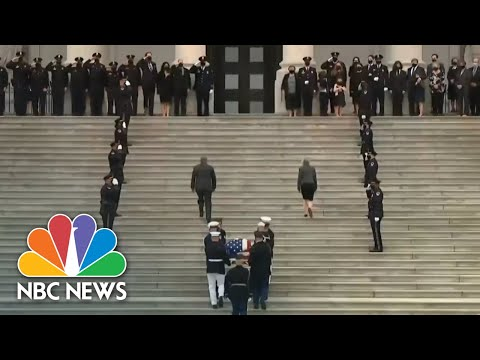 U.S. Capitol Police Officer Lies In Honor In Capitol Building | NBC Nightly News