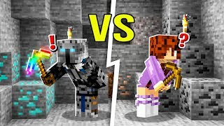 Minecraft: Who Can FIND DIAMONDS FIRST? (X Life 3)