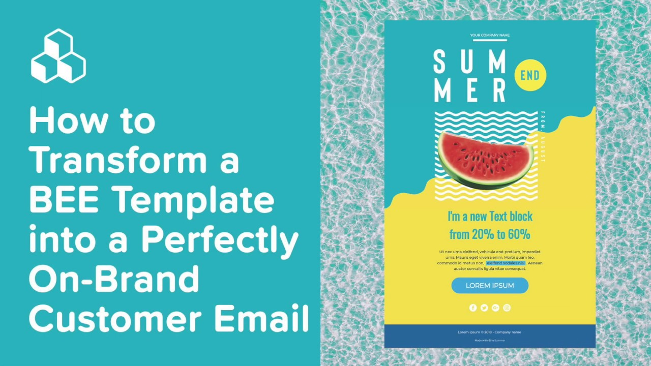 How to Transform a BEE Template into a Perfectly On-Brand Customer Email