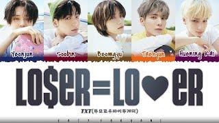 TXT (투모로우바이투게더) - 'LO$ER=LO♡ER' Lyrics [Color Coded_Han_Rom_Eng]