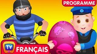 ChuChu TV Police Des Oeufs Surprises- Episode 04 - La chasse en hélicoptère