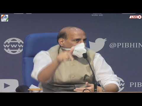 Press conference by union defence minister Rajnath Singh