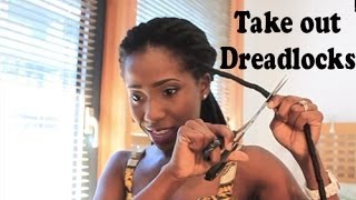 How To Take Out Faux Dreadlocks | AdannaDavid