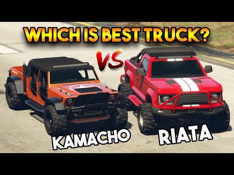 GTA ONLINE KAMACHO VS RIATA (DOOMSADAY DLC UNRELEASED VEHICLES OFF ROAD TRICKS)