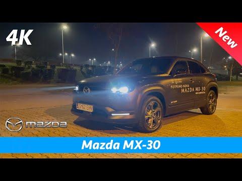 Mazda MX-30 2021 - FIRST Night look in 4K | Launch Edition Luxury Modern (Budget BMW i3)