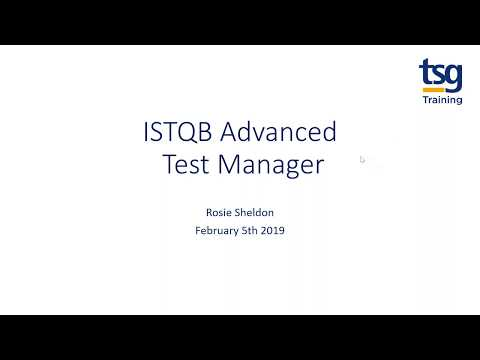 ISTQB Advanced Test Manager Webinar - The value of business testing from TSG Training